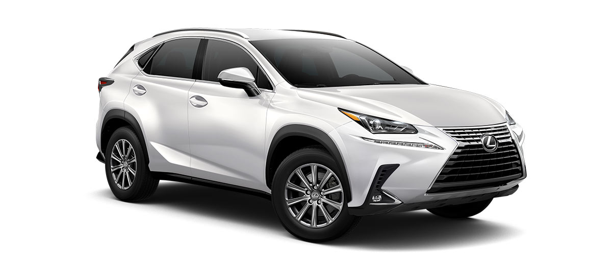 2018 nx 300 in Eminent White Pearl with '17-in 10-spoke alloy wheels<span class='tooltip-trigger disclaimer' data-disclaimers='[{\'code\':\'TIREWEAR1\',\'isTerms\':false,\'body\':\'17-in performance tires are expected to experience greater tire wear than conventional tires. Tire life may be substantially less than 15,000 miles, depending upon driving conditions.\'}]'><span class='asterisk'>*</span></span>' angle4