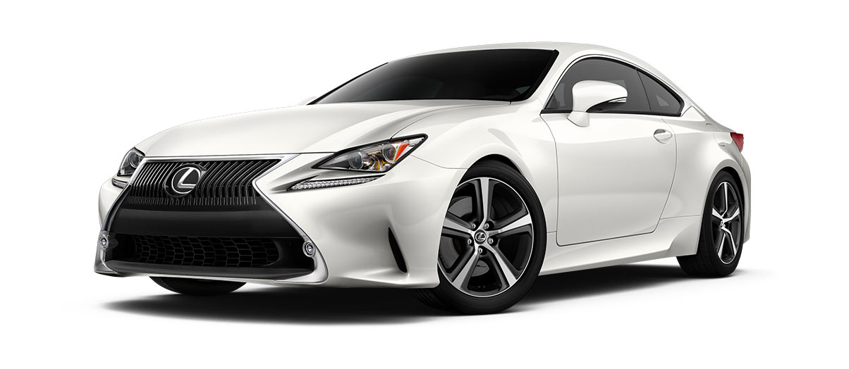 2018 rc 350 in Eminent White Pearl with '18-in five-spoke alloy wheels<span class='tooltip-trigger disclaimer' data-disclaimers='[{\'code\':\'TIREWEAR2\',\'isTerms\':false,\'body\':\'18-in performance tires are expected to experience greater tire wear than conventional tires. Tire life may be substantially less than 15,000 miles, depending upon driving conditions.\'}]'><span class='asterisk'>*</span></span> with Dark Gray and machined finish' angle1