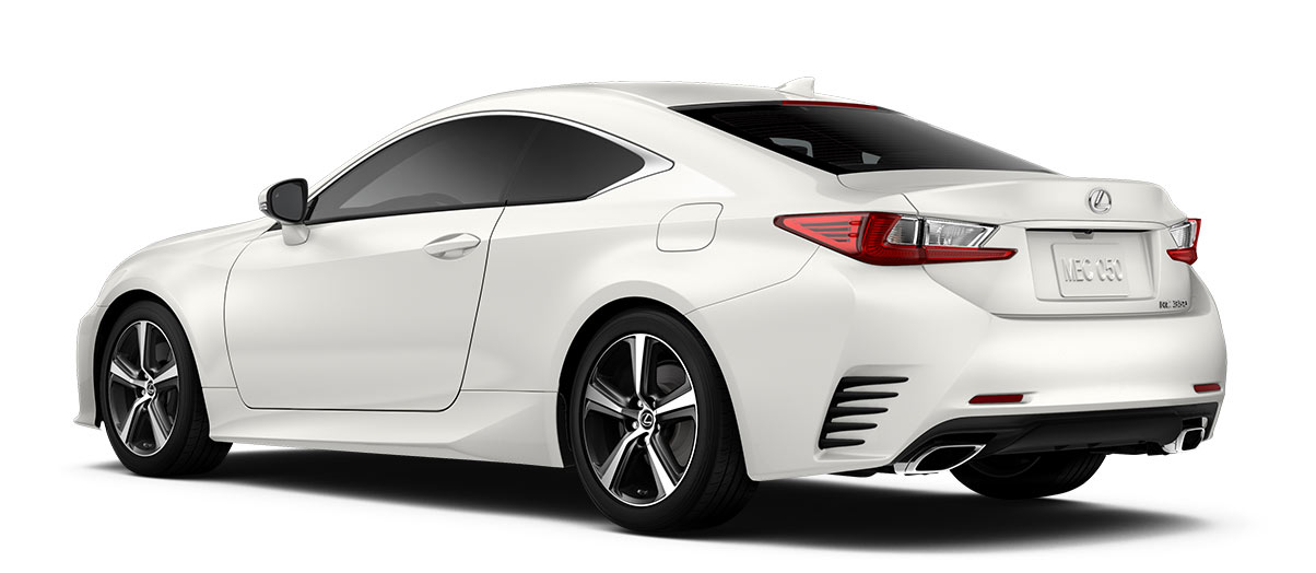 2018 rc 350 in Eminent White Pearl with '18-in five-spoke alloy wheels<span class='tooltip-trigger disclaimer' data-disclaimers='[{\'code\':\'TIREWEAR2\',\'isTerms\':false,\'body\':\'18-in performance tires are expected to experience greater tire wear than conventional tires. Tire life may be substantially less than 15,000 miles, depending upon driving conditions.\'}]'><span class='asterisk'>*</span></span> with Dark Gray and machined finish' angle5