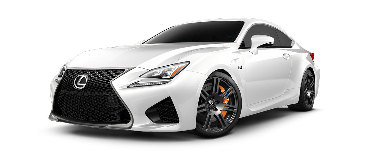 2018 rcf   in Ultra White with '19-in split-seven-spoke forged alloy wheels<span class='tooltip-trigger disclaimer' data-disclaimers='[{\'code\':\'TIREWEAR5\',\'isTerms\':false,\'body\':\'19-in performance tires are expected to experience greater tire wear than conventional tires. Tire life may be substantially less than 15,000 miles, depending upon driving conditions.\'}]'><span class='asterisk'>*</span></span>' angle1