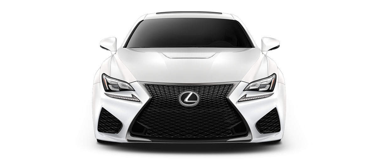 2018 rcf   in Ultra White with '19-in split-seven-spoke forged alloy wheels<span class='tooltip-trigger disclaimer' data-disclaimers='[{\'code\':\'TIREWEAR5\',\'isTerms\':false,\'body\':\'19-in performance tires are expected to experience greater tire wear than conventional tires. Tire life may be substantially less than 15,000 miles, depending upon driving conditions.\'}]'><span class='asterisk'>*</span></span>' angle5