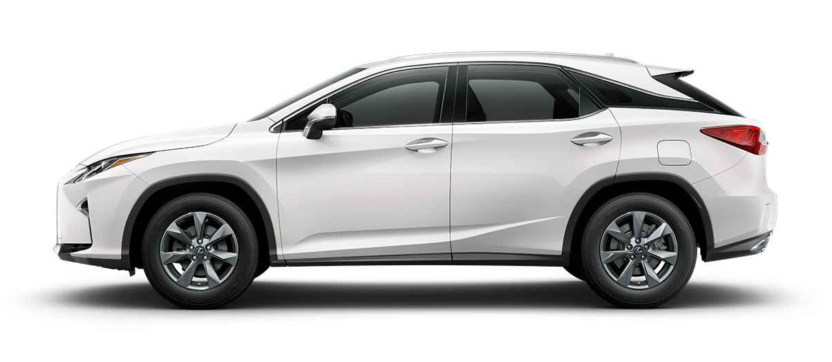 2018 rx 350 in Eminent White Pearl with '18-inch seven-spoke alloy wheels<span class='tooltip-trigger disclaimer' data-disclaimers='[{\'code\':\'TIREWEAR2\',\'isTerms\':false,\'body\':\'18-in performance tires are expected to experience greater tire wear than conventional tires. Tire life may be substantially less than 15,000 miles, depending upon driving conditions.\'}]'><span class='asterisk'>*</span></span>' angle5