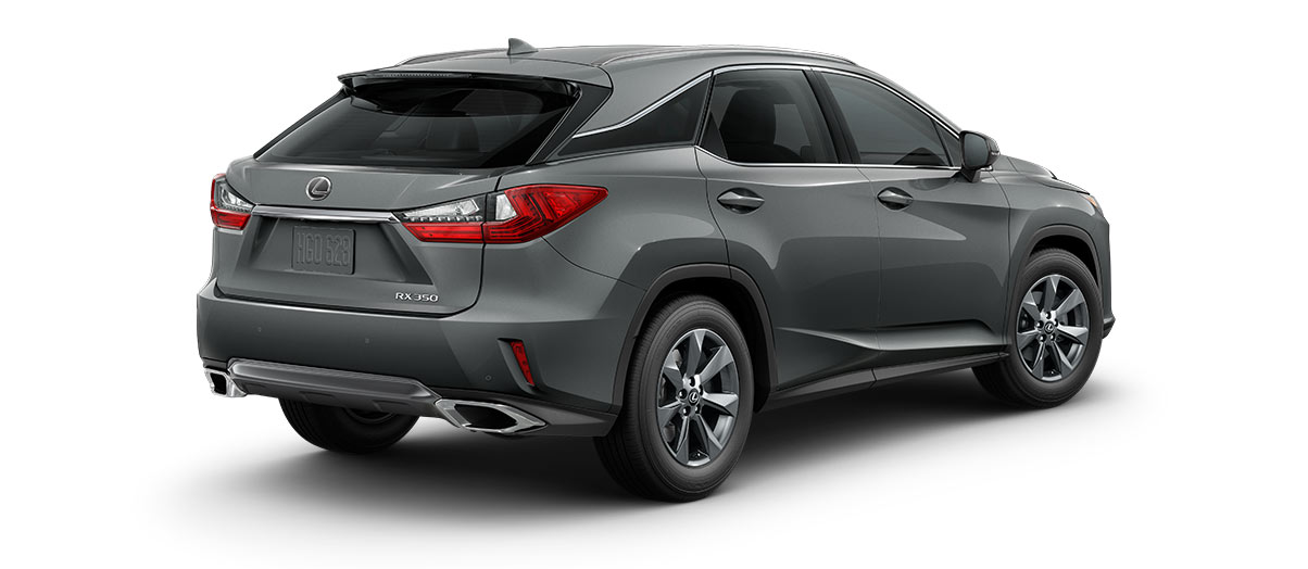2018 rx 350 in Nebula Gray Pearl with '18-inch seven-spoke alloy wheels<span class='tooltip-trigger disclaimer' data-disclaimers='[{\'code\':\'TIREWEAR2\',\'isTerms\':false,\'body\':\'18-in performance tires are expected to experience greater tire wear than conventional tires. Tire life may be substantially less than 15,000 miles, depending upon driving conditions.\'}]'><span class='asterisk'>*</span></span>' angle2
