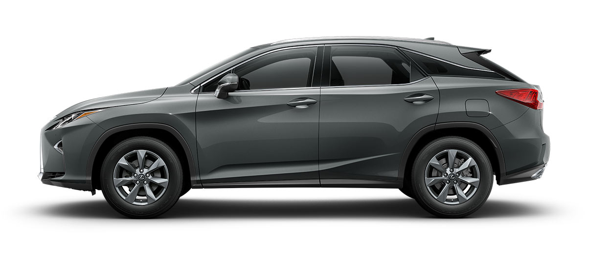2018 rx 350 in Nebula Gray Pearl with '18-inch seven-spoke alloy wheels<span class='tooltip-trigger disclaimer' data-disclaimers='[{\'code\':\'TIREWEAR2\',\'isTerms\':false,\'body\':\'18-in performance tires are expected to experience greater tire wear than conventional tires. Tire life may be substantially less than 15,000 miles, depending upon driving conditions.\'}]'><span class='asterisk'>*</span></span>' angle5