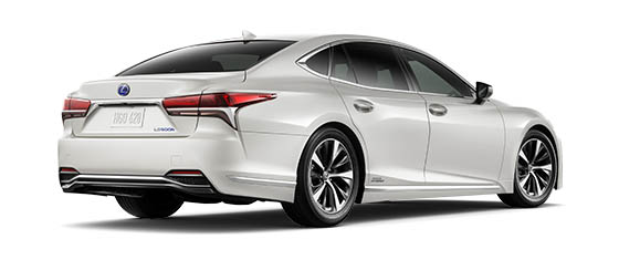 2019 Ls 500h In Eminent White Pearl With 19 Inch Split 10 Spoke