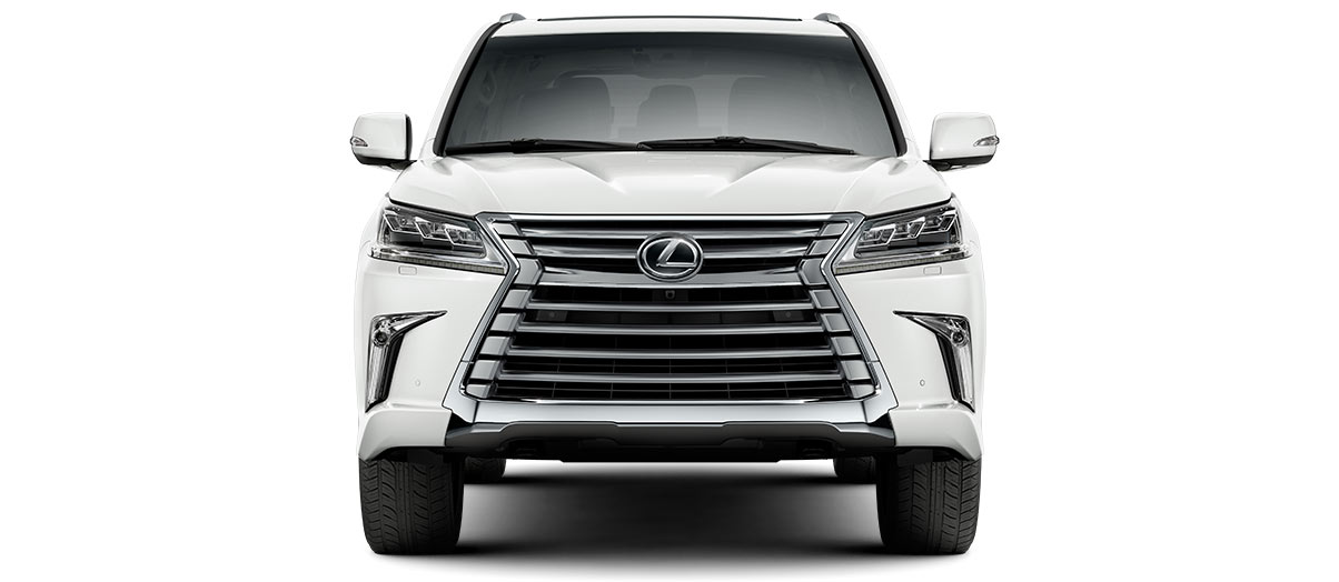 2019 lx 570 THREE-ROW in Eminent White Pearl with '20-in five-spoke alloy wheels<span class='tooltip-trigger disclaimer' data-disclaimers='[{\'code\':\'TIREWEAR4\',\'isTerms\':false,\'body\':\'20-in performance tires are expected to experience greater tire wear than conventional tires. Tire life may be substantially less than mileage expectancy or 15,000 miles, depending upon driving conditions.\'}]'><span class='asterisk'>*</span></span> (Standard)' angle5