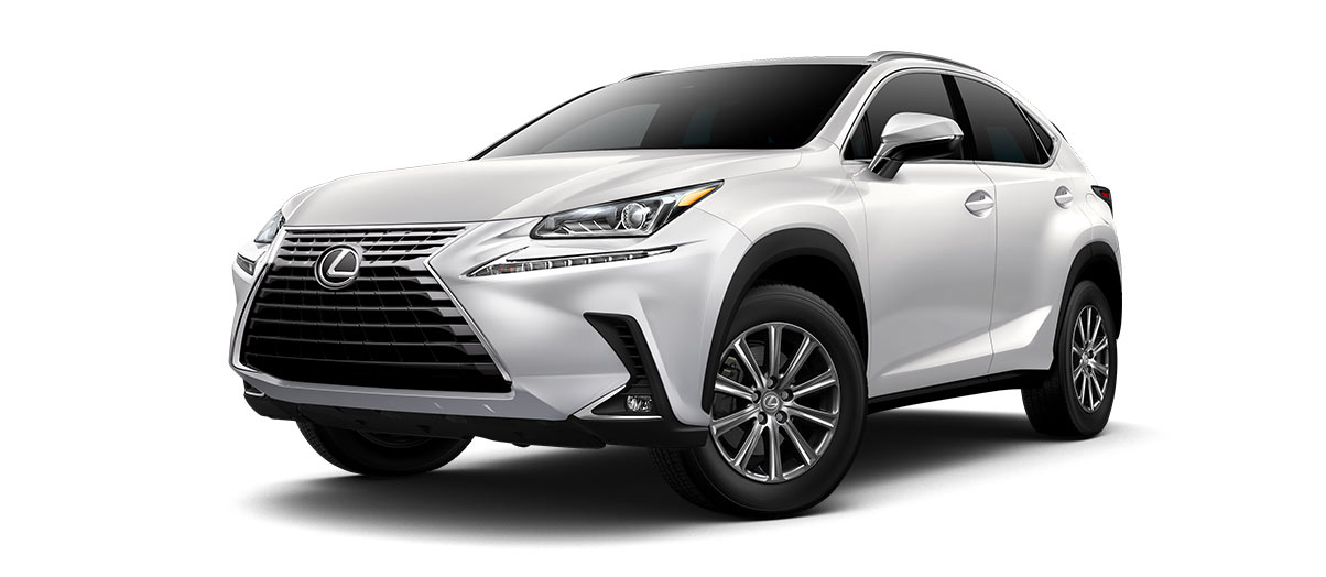 2019 nx 300 in Eminent White Pearl with '17-in 10-spoke alloy wheels<span class='tooltip-trigger disclaimer' data-disclaimers='[{\'code\':\'TIREWEAR1\',\'isTerms\':false,\'body\':\'17-in performance tires are expected to experience greater tire wear than conventional tires. Tire life may be substantially less than 15,000 miles, depending upon driving conditions.\'}]'><span class='asterisk'>*</span></span>' angle1