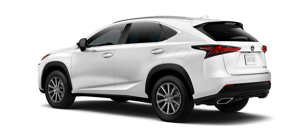 2019 nx 300 in Eminent White Pearl with '17-in 10-spoke alloy wheels<span class='tooltip-trigger disclaimer' data-disclaimers='[{\'code\':\'TIREWEAR1\',\'isTerms\':false,\'body\':\'17-in performance tires are expected to experience greater tire wear than conventional tires. Tire life may be substantially less than mileage expectancy or 15,000 miles, depending upon driving conditions.\'}]'><span class='asterisk'>*</span></span>' angle2