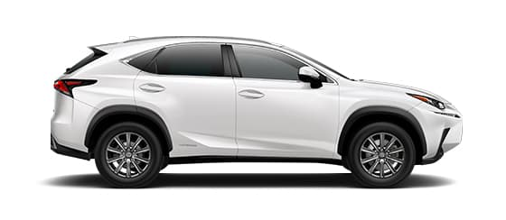 2019 Nx 300h In Eminent White Pearl With 17 10 Spoke Alloy Wheels
