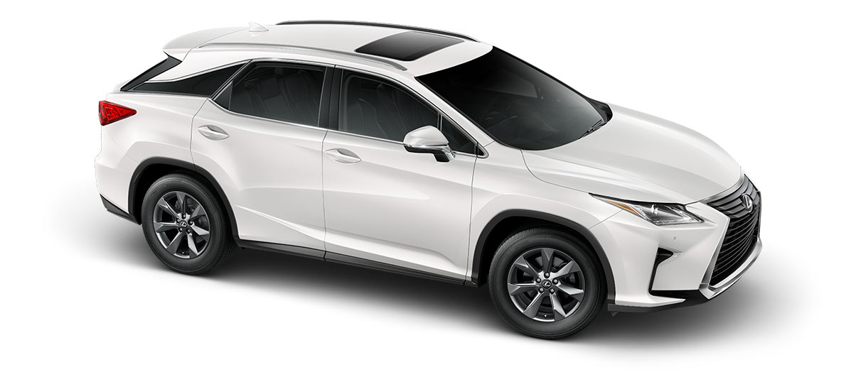 2019 rx 350 in Eminent White Pearl with '18-inch seven-spoke alloy wheels<span class='tooltip-trigger disclaimer' data-disclaimers='[{\'code\':\'TIREWEAR2\',\'isTerms\':false,\'body\':\'18-in performance tires are expected to experience greater tire wear than conventional tires. Tire life may be substantially less than mileage expectancy or 15,000 miles, depending upon driving conditions.\'}]'><span class='asterisk'>*</span></span>' angle3