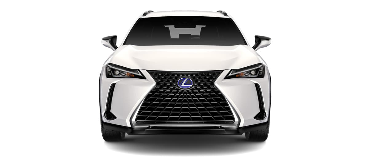 2019 ux 250h in Eminent White Pearl with '18-in five-spoke alloy wheels with Dark Gray and machined finish with run-flat tires<span class='tooltip-trigger disclaimer' data-disclaimers='[{\'code\':\'TIREWEAR2\',\'isTerms\':false,\'body\':\'18-in performance tires are expected to experience greater tire wear than conventional tires. Tire life may be substantially less than mileage expectancy or 15,000 miles, depending upon driving conditions.\'},{\'code\':\'RUNFLAT8\',\'isTerms\':false,\'body\':\'UX 200, UX 250h and F SPORT models come standard with run-flat tires—there is no spare tire.\'}]'><span class='asterisk'>*</span></span>' angle5