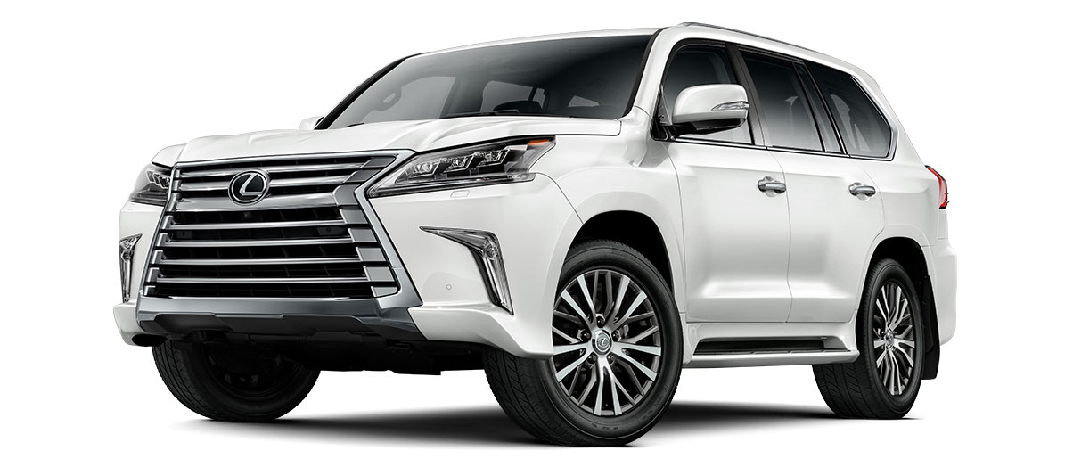 2020 lx 570 THREE-ROW in Eminent White Pearl with '20-in five-spoke alloy wheels<span class='tooltip-trigger disclaimer' data-disclaimers='[{\'code\':\'TIREWEAR4\',\'isTerms\':false,\'body\':\'20-in performance tires are expected to experience greater tire wear than conventional tires. Tire life may be substantially less than mileage expectancy or 15,000 miles, depending upon driving conditions.\'}]'><span class='asterisk'>*</span></span> (Standard)' angle1