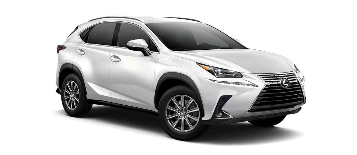 2020 nx 300 in Eminent White Pearl with '17-in 10-spoke alloy wheels<span class='tooltip-trigger disclaimer' data-disclaimers='[{\'code\':\'TIREWEAR1\',\'isTerms\':false,\'body\':\'17-in performance tires are expected to experience greater tire wear than conventional tires. Tire life may be substantially less than mileage expectancy or 15,000 miles, depending upon driving conditions.\'}]'><span class='asterisk'>*</span></span>' angle4