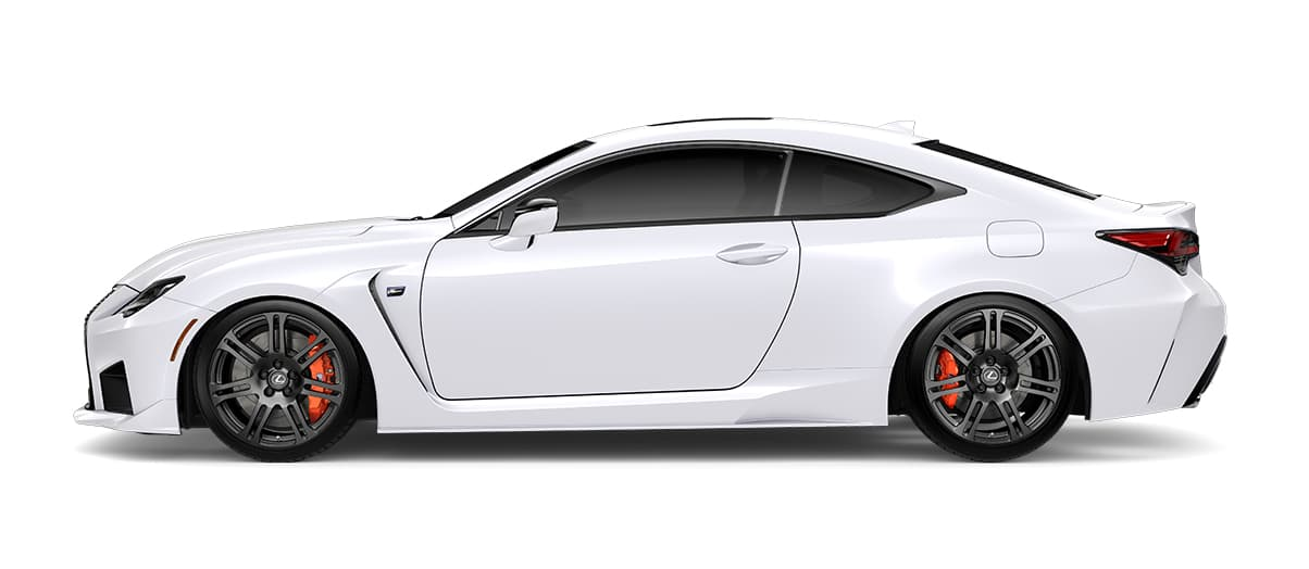 2020 rcf   in Ultra White with '19-inch split-seven-spoke forged alloy wheels by BBS with Michelin® Pilot® Sport 4 S tires<span class='tooltip-trigger disclaimer' data-disclaimers='[{\'code\':\'TIREWEAR5\',\'isTerms\':false,\'body\':\'19-in performance tires are expected to experience greater tire wear than conventional tires. Tire life may be substantially less than mileage expectancy or 15,000 miles, depending upon driving conditions.\'}]'><span class='asterisk'>*</span></span>' angle2