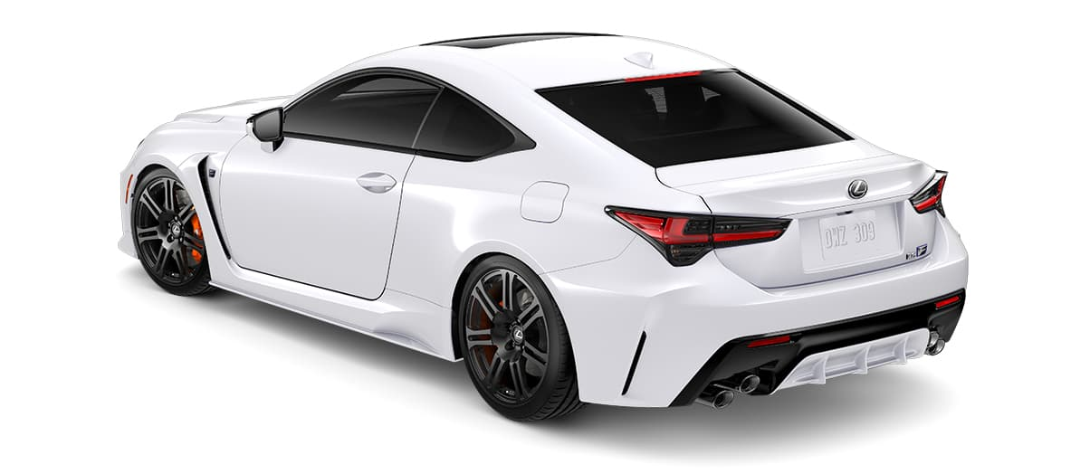 2020 rcf   in Ultra White with '19-inch split-seven-spoke forged alloy wheels by BBS with Michelin® Pilot® Sport 4 S tires<span class='tooltip-trigger disclaimer' data-disclaimers='[{\'code\':\'TIREWEAR5\',\'isTerms\':false,\'body\':\'19-in performance tires are expected to experience greater tire wear than conventional tires. Tire life may be substantially less than mileage expectancy or 15,000 miles, depending upon driving conditions.\'}]'><span class='asterisk'>*</span></span>' angle3