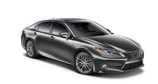 2013 Lexus ES 350 with available 18-inch split-10-spoke alloy wheels - exterior color: Nebula Gray Pearl