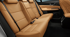GS Luxury Package shown in Flaxen leather trim.
