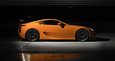 2013 LFA with Nürburgring Package shown in Sunset Orange.