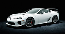 2013 LFA with Nürburgring Package shown in Whitest White.