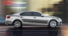 2013 Lexus LS shown in Liquid Platinum