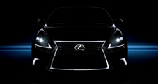 2013 Lexus LS shown in Obsidian with available LED headlamps