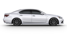 2013 Lexus LS F SPORT exterior shown in Ultra White