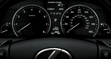 Optitron instrumentation on 2013 Lexus LS F SPORT