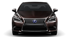 2013 Lexus LSh Hybrid exterior shown in Fire Agate Pearl