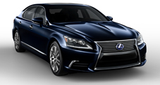 2013 Lexus LSh Hybrid exterior shown in Deep Sea Mica