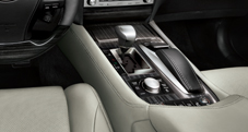 Center console with Remote Touch interface and Drive Mode Select on the 2013 Lexus LSh Hybrid