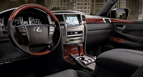 2013 LX shown with Black leather trim with available Luxury Package