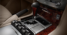 2013 LX shown with Mahogany- and leather-trimmed shift knob shown with Crawl Control, 