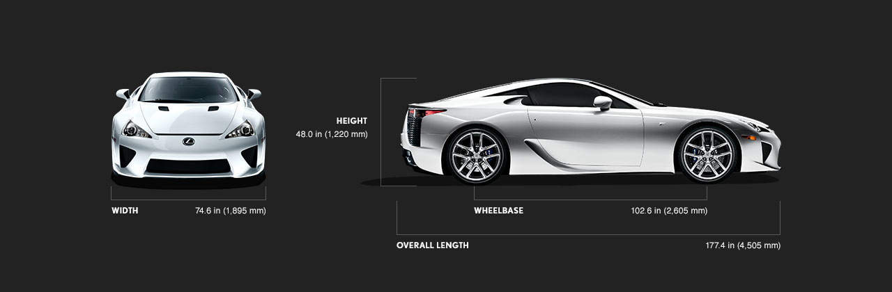 Lexus LFA  Supercar  Technical Specifications  Lexuscom