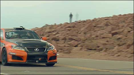 Lexus IS F CCS-R conquers Pikes Peak - Video